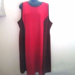 Old Navy Red Burgundy Colorblock Bodycon Dress